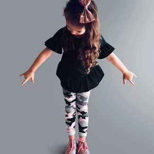 Legging de cotton camuflada Augustina Kids