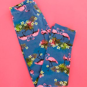 Legging infantil de cotton flamingos 2 Augustina