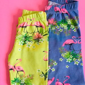 Legging infantil de cotton flamingos Augustina